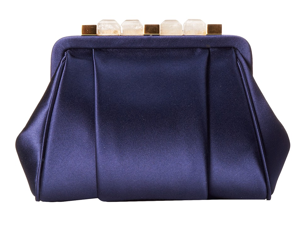 Oscar de la Renta - Mini Marilia (Navy Satin) Cross Body Handbags