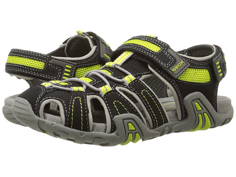 Geox Kids - Jr Kraze 30 (Big Kid) (Black/Acid Yellow) Boy's Shoes