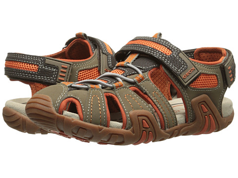 Geox Kids - Jr Kraze 30 (Big Kid) (Brown/Orange) Boy