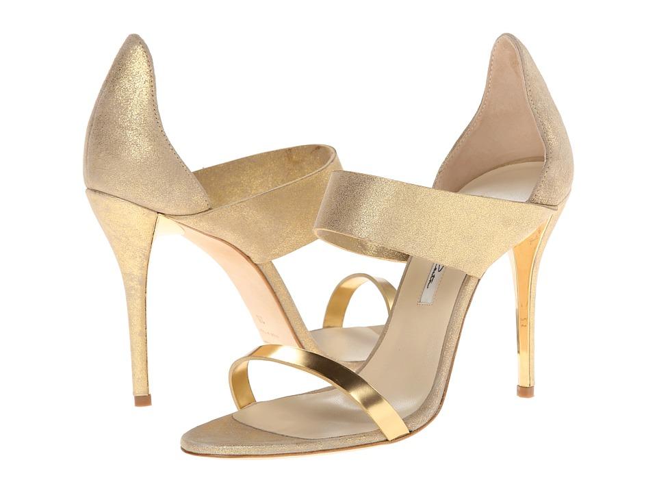 Oscar de la Renta - River (Beige Burma Metallic Leather) High Heels