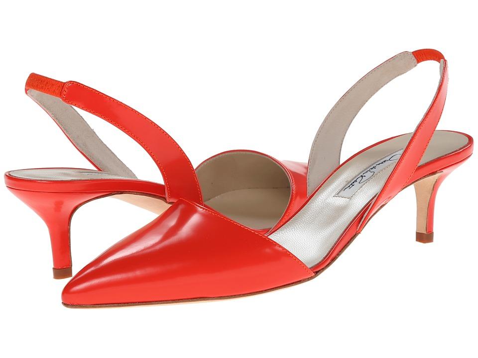 Oscar de la Renta - Samie (Coral Beige Patent Leather) Women