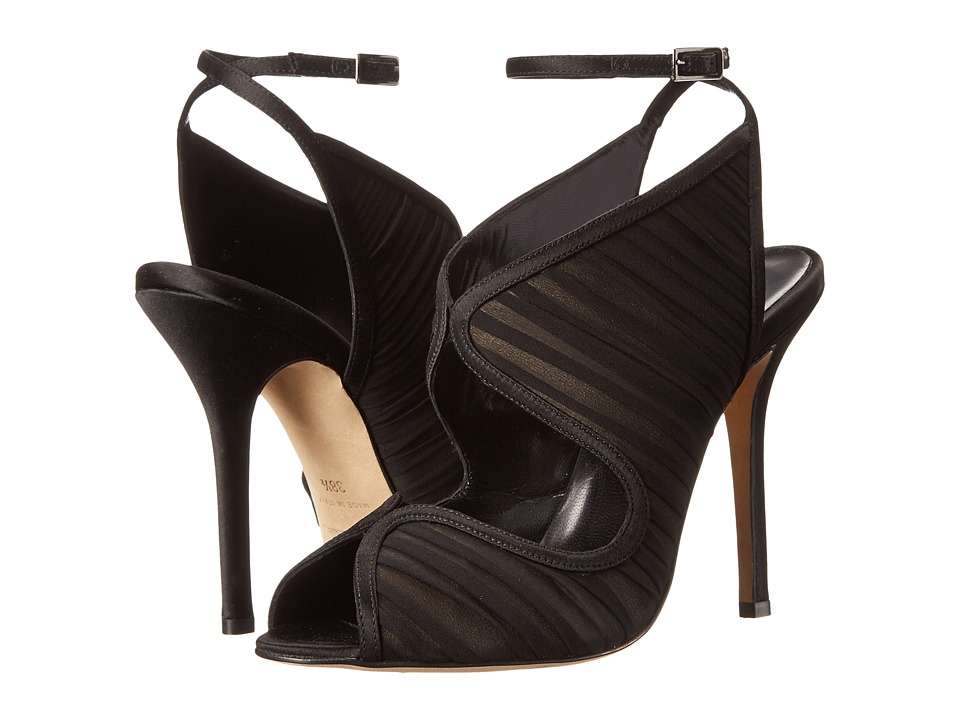 Oscar de la Renta - Suzy (Black Satin) High Heels