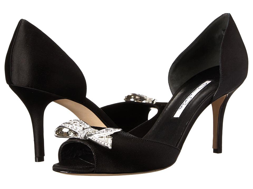 Oscar de la Renta - Belistra (Black Satin) High Heels