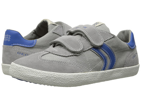 Geox Kids - Jr Kiwiboy 48 (Toddler/Little Kid) (Grey/Royal) Boys Shoes