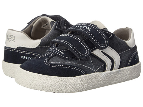 Geox Kids - Jr Kiwiboy 48 (Toddler/Little Kid) (Navy/Off White) Boys Shoes