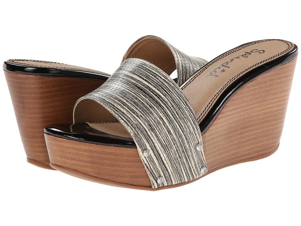 Splendid - Greenville (Black Stripe) Women's Wedge Shoes