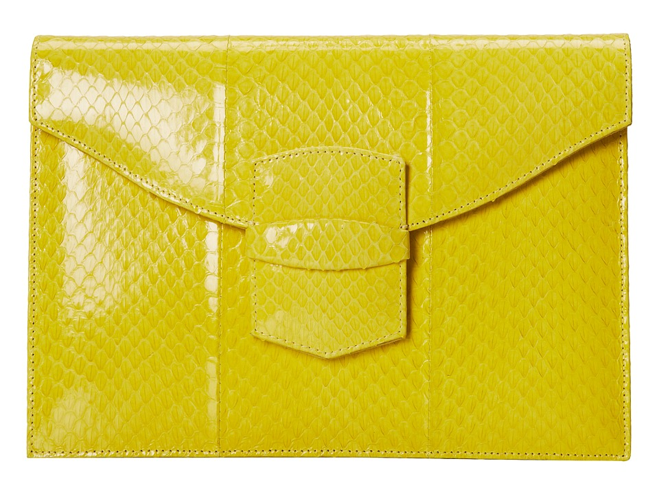 Oscar de la Renta - Small Grafton (Lemon Elaphe) Clutch Handbags