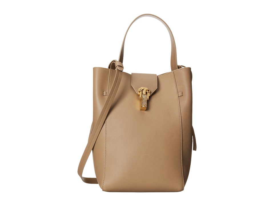 Oscar de la Renta - Sloane Small Bucket (Sand Leather) Handbags