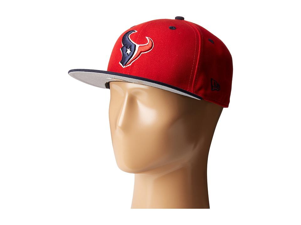 New Era - NFL Two-Tone Team Houston Texans (Red) Baseball Caps