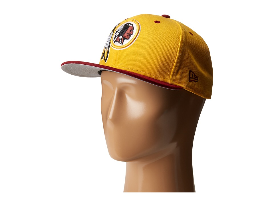 New Era - NFL Two-Tone Team Washington Redskins (Dark Yellow) Baseball Caps