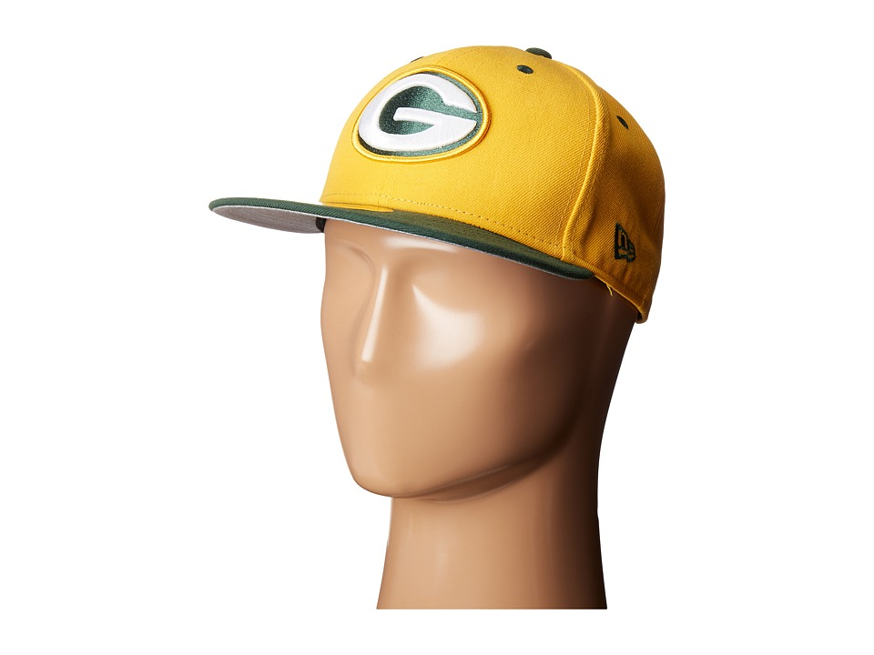 New Era - NFL Two-Tone Team Green Bay Packers (Dark Yellow) Baseball Caps