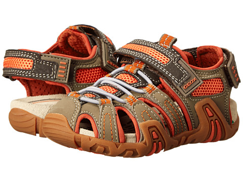 Geox Kids - Jr Kraze 30 (Toddler/Little Kid) (Brown/Orange) Boy