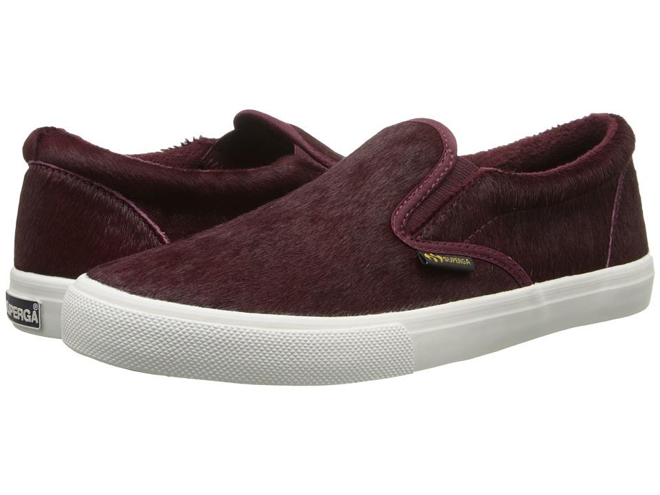 Womens Shoes Superga 2311 Leahorsew Bordeaux