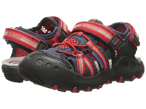 Geox Kids - Jr Kyle 5 (Toddler/Little Kid) (Red/Navy) Boy's Shoes