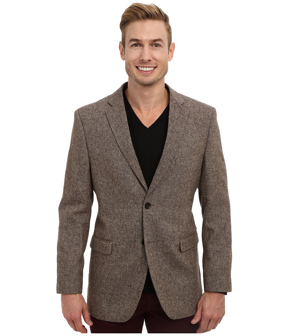 U.S. POLO ASSN. - Wool Donegal Sport Coat (Brown) Men's Jacket