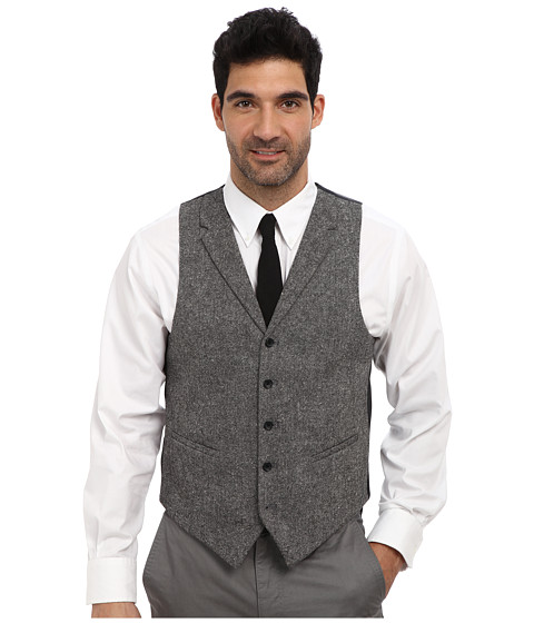 U.S. POLO ASSN. - Tweed Vest (Charcoal Tweed) Men