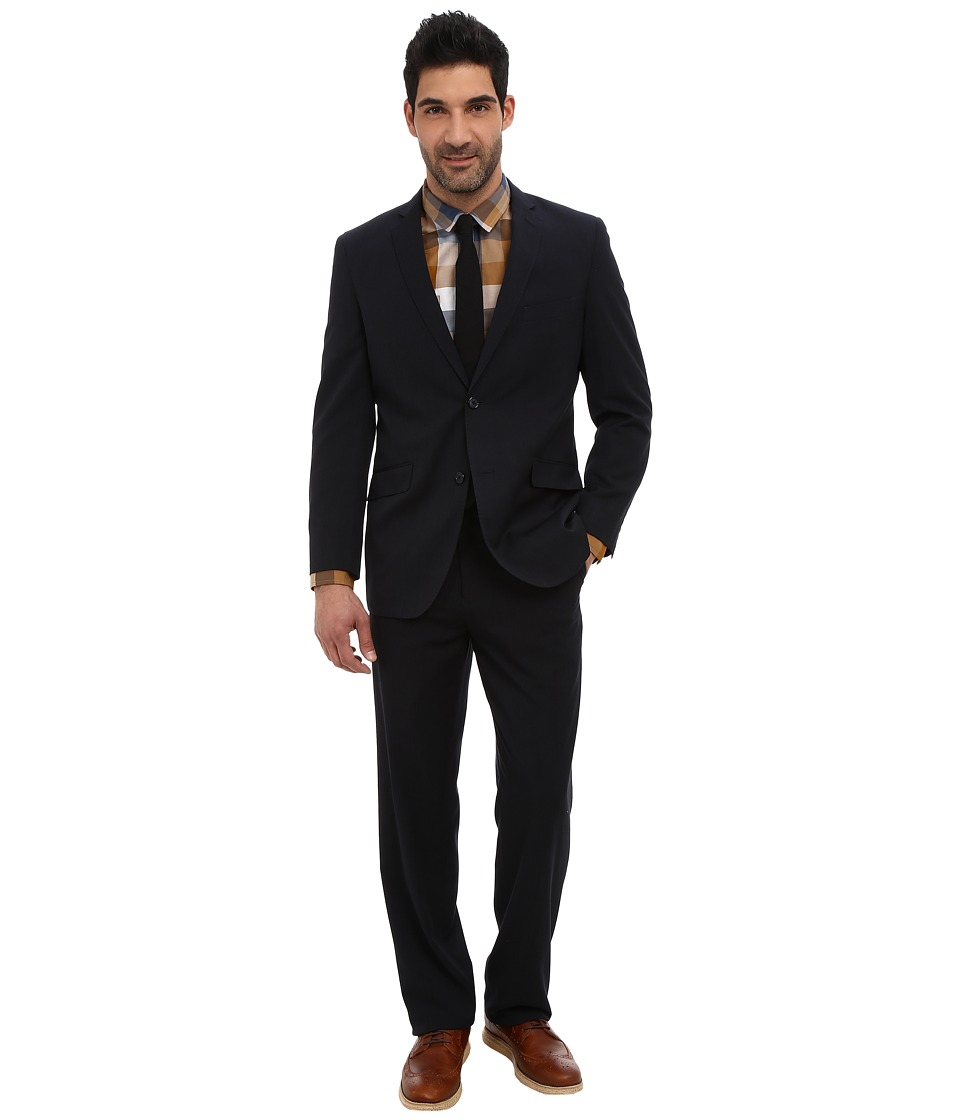 U.S. POLO ASSN. - 2 Button Solid Nested Suit (Classic Navy) Men's Suits Sets
