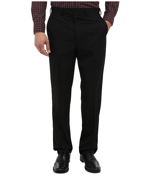 U.S. POLO ASSN. - Flat Front Trousers (Black) Men's Casual Pants