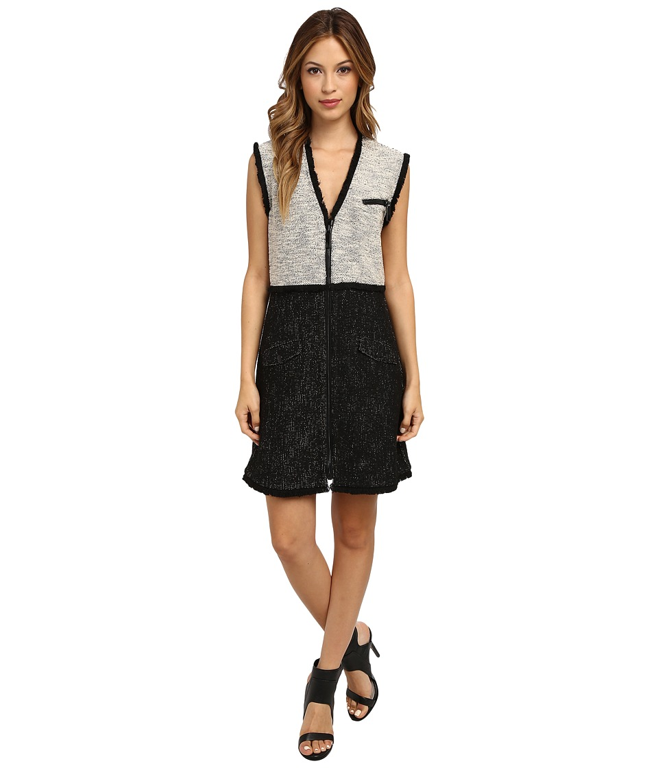 Rachel Zoe - Shelby Tweed Zip Front Dress (Black) Women's Dress