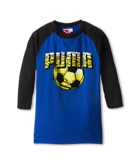 Puma Kids - Soccer Long Sleeve Raglan (Big Kids) (Competition Blue) Boy
