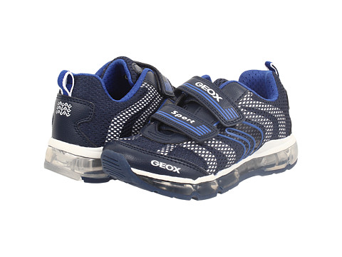 Geox Kids - Jr Android Boy 1 (Toddler/Little Kid) (Navy/White) Boy