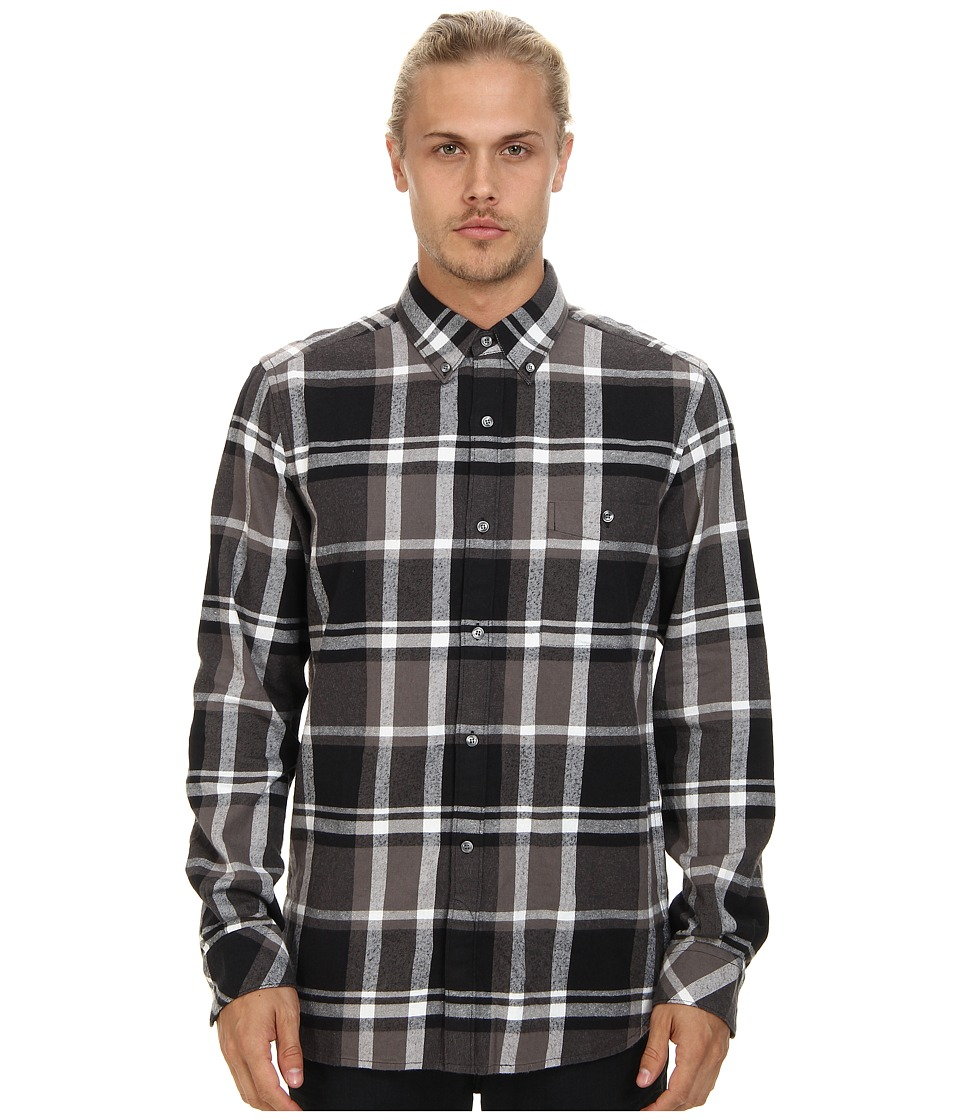 French Connection - Winter Checks Top (Gunmetal) Men's Clothing