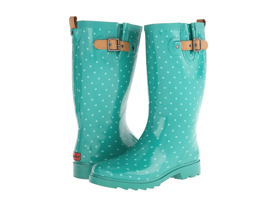 Chooka - Classic Dot Rain Boot (Jungle Green) Women's Rain Boots