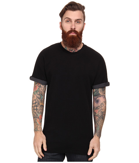 French Connection - Bonded Jersey (Black/Gunmetal) Men's Short Sleeve Pullover