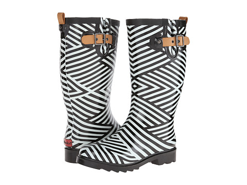 Chooka - Ziggy Stripe (Black) Women's Rain Boots
