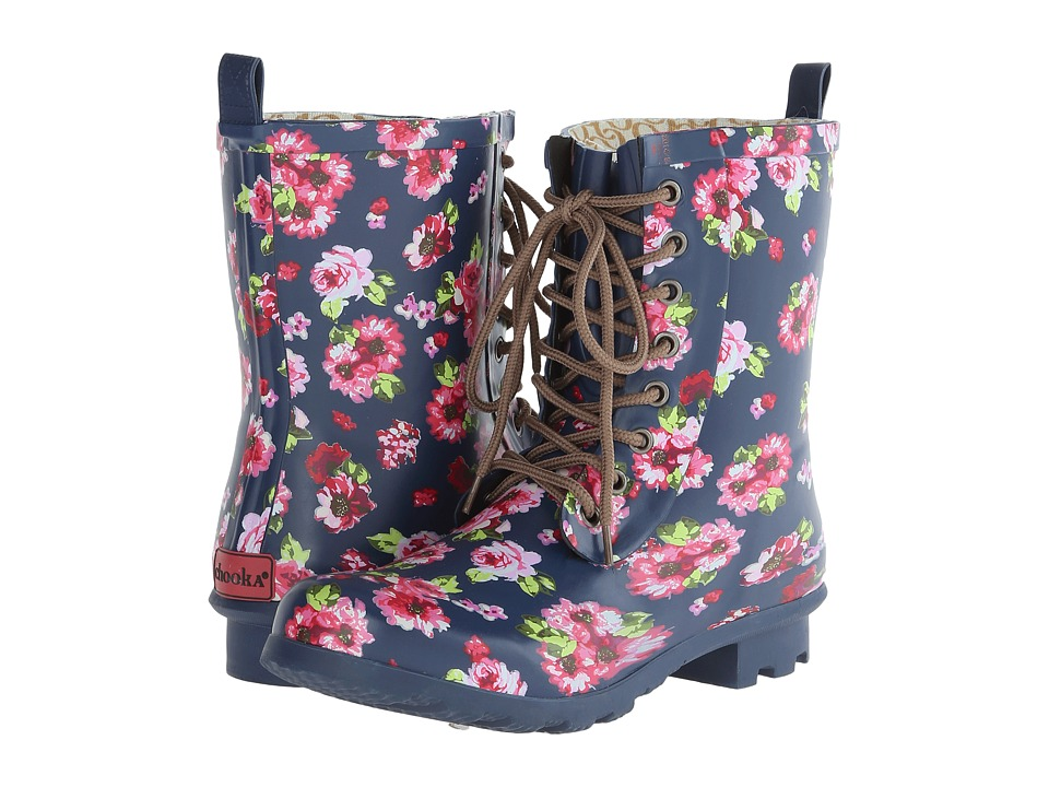 Chooka - Combat Floral (Navy) Women's Rain Boots