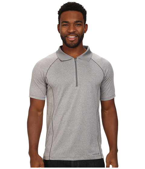 Merrell - Connect Polo (Sidewalk Heather) Men's Short Sleeve Pullover