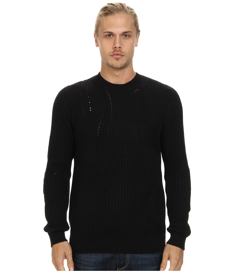 French Connection - Transfer Rib Top (Black) Men's Clothing