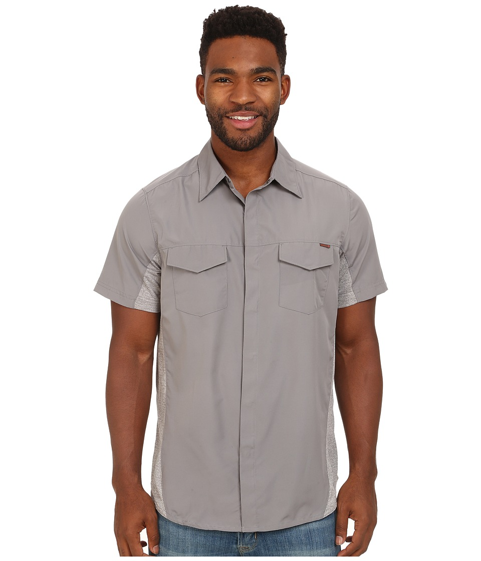Merrell - Mixmaster Snap Shirt (Sidewalk) Men's Short Sleeve Button Up