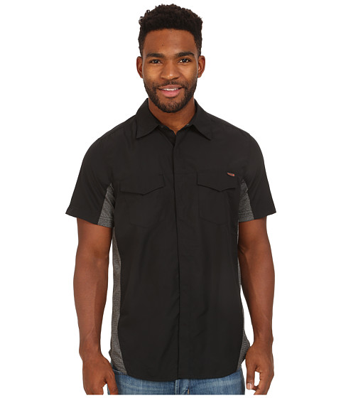 Merrell - Mixmaster Snap Shirt (Black) Men's Short Sleeve Button Up