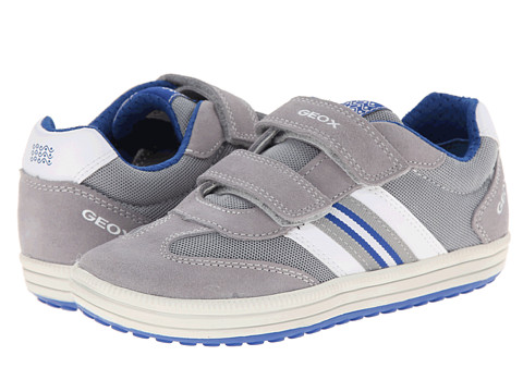 Geox Kids - Jr Vita 24 (Toddler/Little Kid) (Grey/Royal) Boy's Shoes