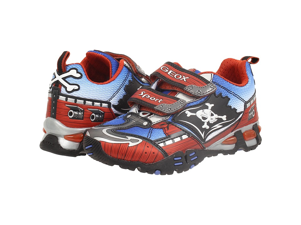 Geox Kids - Jr Light Eclipse 20 (Little Kid/Big Kid) (Dark Orange/Royal) Boy's Shoes
