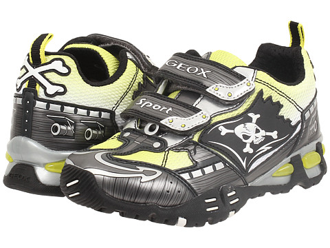 Geox Kids - Jr Light Eclipse 20 (Little Kid/Big Kid) (Grey/Lime) Boy's Shoes