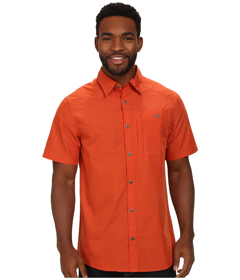 Merrell - Sarawan S/S Button Up (Rust) Men's Short Sleeve Button Up