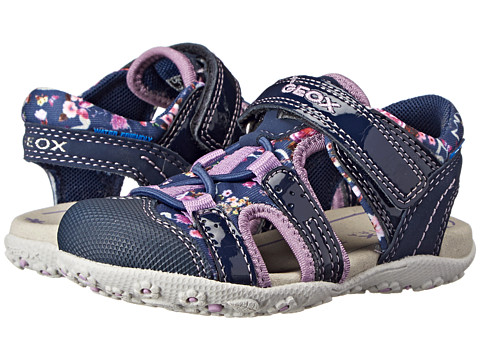 Geox Kids - Baby Roxanne 25 (Toddler) (Navy/Lilac) Girl's Shoes