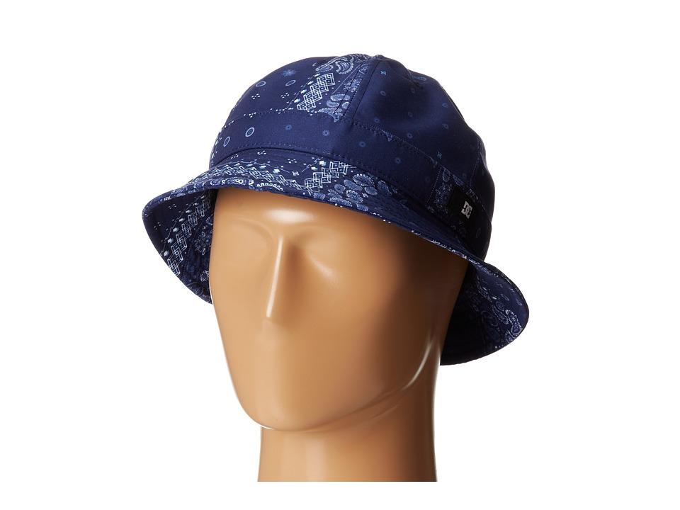DC - Theodore Bucket Hat (Indigo Paisley) Bucket Caps