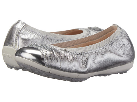 Geox Kids - Jr Piuma 40 (Toddler/Little Kid) (Silver) Girl's Shoes