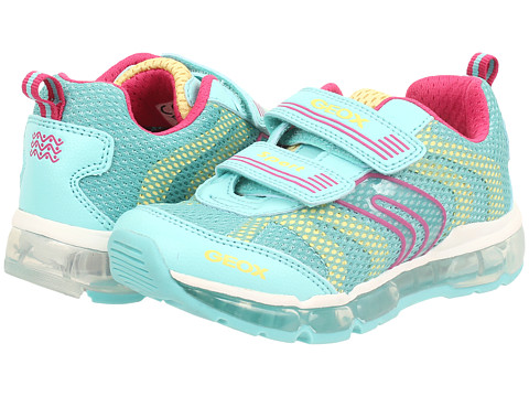 Geox Kids - Jr Android Girl 2 (Big Kid) (Watersea/Yellow) Girl's Shoes