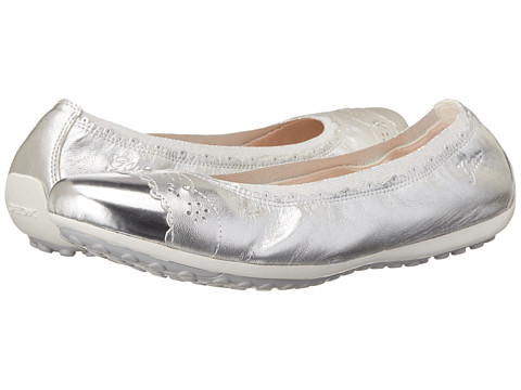 Geox Kids - Jr Piuma 40 (Big Kid) (Silver) Girl's Shoes