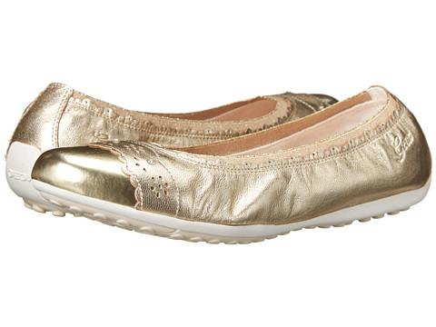 Geox Kids - Jr Piuma 40 (Big Kid) (Gold) Girl's Shoes