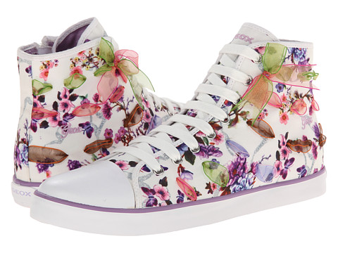 Geox Kids - Jr Ciak Girl 33 (Big Kid) (White) Girl