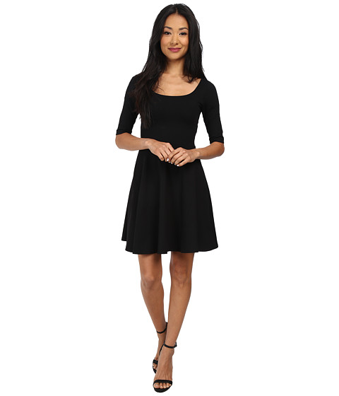 Susana Monaco - Flared Sleeve Dress (Black) Women
