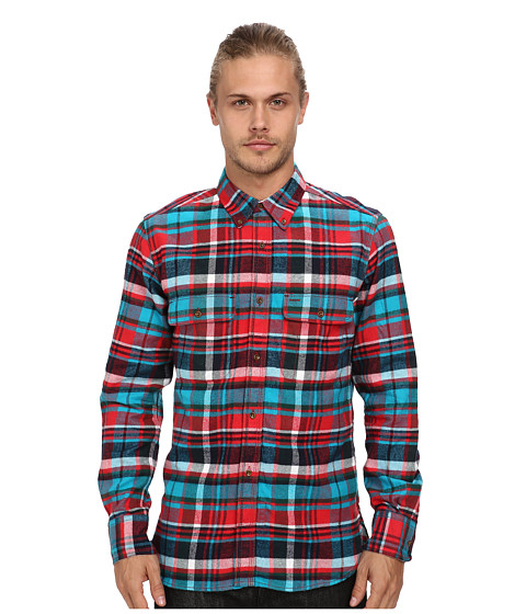 French Connection - Felted Flannel (Tartan) Men's Long Sleeve Button Up