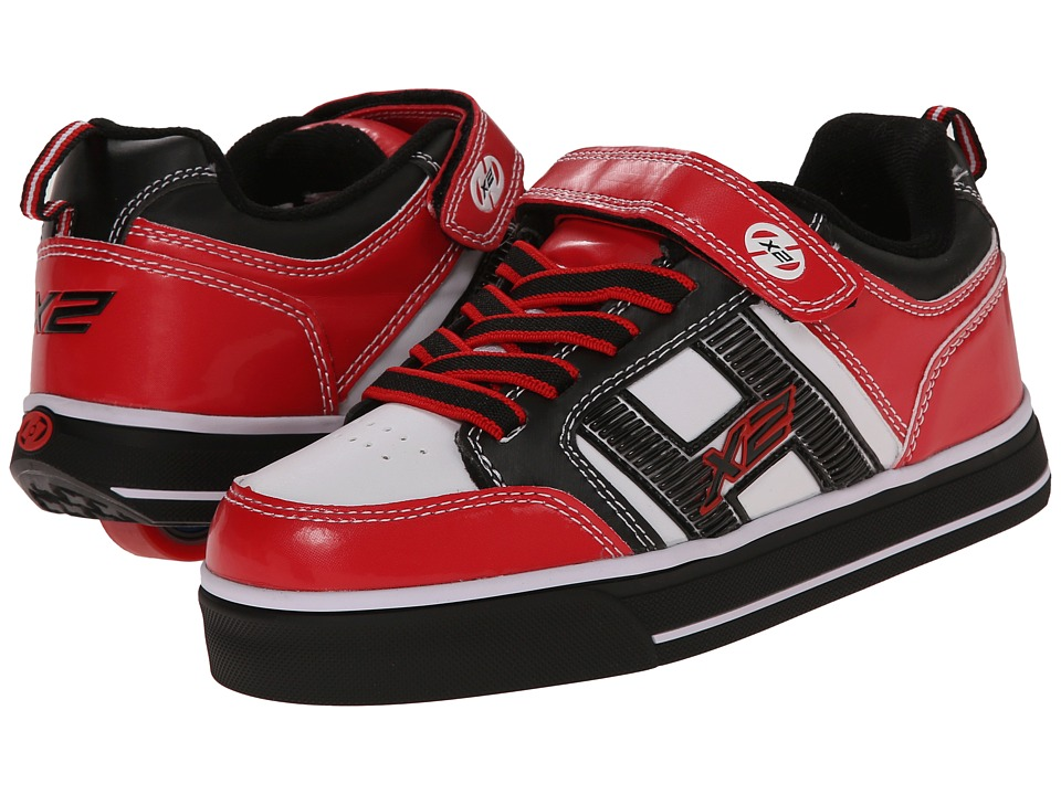 Heelys - Bolt Plus X2 Lighted (Little Kid/Big Kid/Adult) (Red/Black/White) Boys Shoes