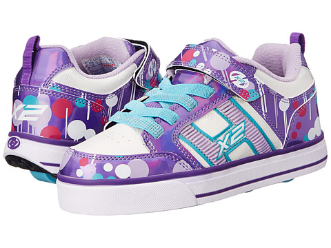 Heelys - Bolt Plus X2 Lighted (Little Kid/Big Kid/Adult) (Purple/White/Drip) Girl