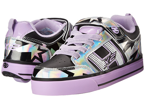 Heelys - Bolt Plus X2 Lighted (Little Kid/Big Kid/Adult) (Silver/Lilac/Black) Girl